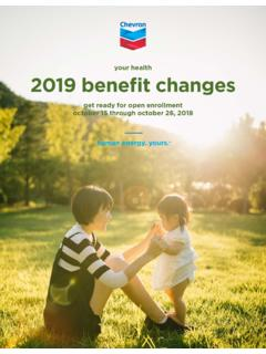 your health 2019 benefit changes - hr2.chevron.com