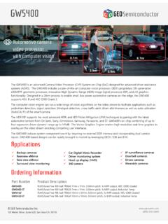 systems (ADAS). The GW5400 includes a state-of-the-art ...