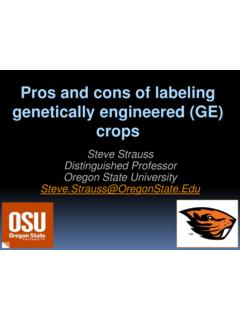 Pros and cons of labeling genetically engineered (GE) crops