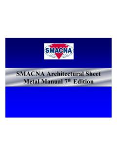 SMACNA Architectural Sheet Metal Manual 7 Edition