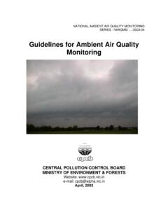Guidelines for Ambient Air Quality Monitoring