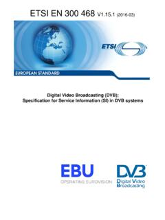 EN 300 468 - V1.15.1 - Digital Video Broadcasting …