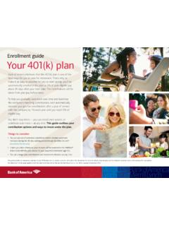 Enrollment guide Your 401(k) plan - Bank of America