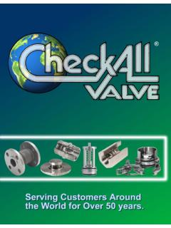 FOUR SERIES OF CHECK-ALL VALVES - Technical …