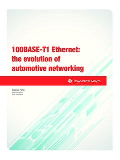 100BASE-T1 Ethernet: the evolution of automotive networking