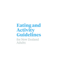 Eating and Activity Guidelines - Ministry of Health NZ