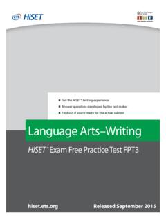 HiSET Practice Test Writing 14A