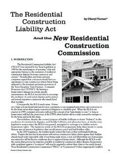 And the New Residential Construction Commission  …