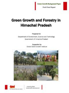 Green Growth and Forestry in Himachal Pradesh