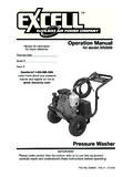 Operation Manual - Ex-Cell Pressure Washers