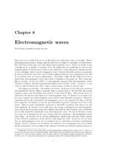 Electromagnetic waves - Harvard University