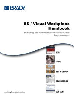 5S / Visual Workplace Handbook - Techni-Tool: …