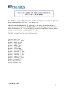 CLINICAL LADDER PROGRAM - Augusta University Intranet