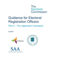 Guidance for Electoral Registration Officers