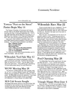 Community Newsletter - Wiltondale Improvement Association