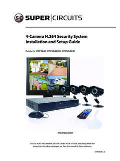4-Camera H.264 Security System Installation and Setup …