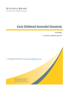 Early Childhood Generalist Standards - NBPTS