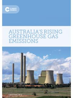 AUSTRALIA'S RISING GREENHOUSE GAS EMISSIONS
