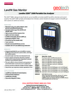 Landtec GEM™ 5000 Portable Gas Analyzer