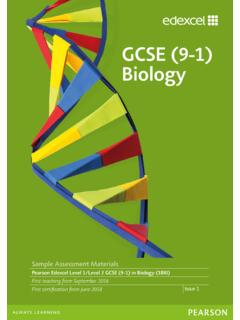 GCSE (9-1) Biology - Pearson qualifications