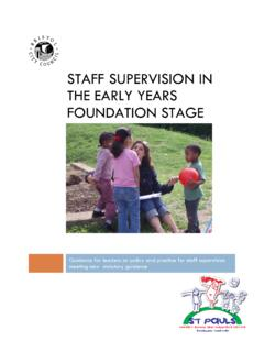 STAFF SUPERVISION IN THE EARLY YEARS FOUNDATION …