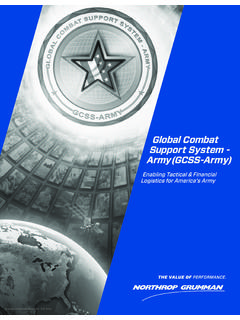 Global Combat Support System - Army (GCSS …