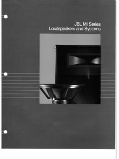 Musical Instrument Loudspeakers - JBL Professional