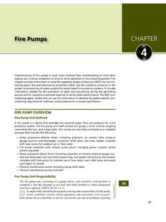 Fire Pumps CHAPTER 4 - Fire Notes