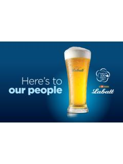 Here's to our people - Labatt.com