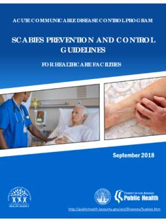SCABIES PREVENTION AND CONTROL …