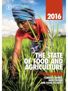 The State of Food and Agriculture 2016 (SOFA): Climate ...