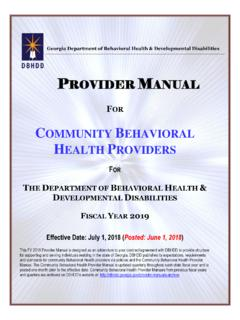 FOR COMMUNITY BEHAVIORAL HEALTH PROVIDERS