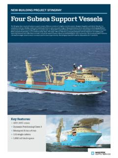 NEW-BUILDING PROJECT STINGRAY Four Subsea Support …