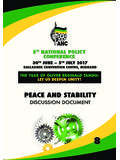 PEACE AND STABILITY - African National Congress