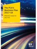 The FCA s Business Plan 2017-18 - EY - United States