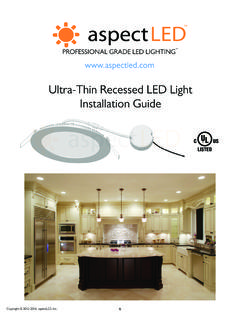 Ultra-Thin Recessed LED Light Installation Guide