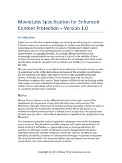 MovieLabs*Specificationfor$Enhanced$ Content&Protection ...