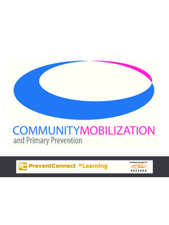 COMMUNITYMOBILIZATION - PreventConnect eLearning