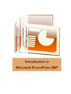 Introduction to Microsoft PowerPoint 2007