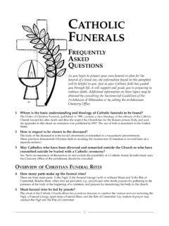 CATHOLIC FUNERALS - Archmil.org