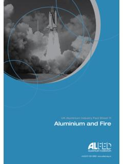 UK Aluminium Industry Fact Sheet 11 Aluminium and Fire