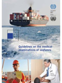 Guidelines on the medical examinations of seafarers …