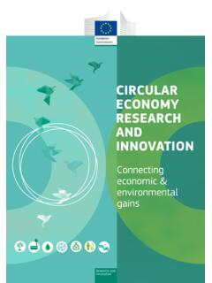 CIRCULAR ECONOMY RESEARCH AND INNOVATION