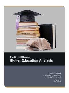 The 2019-20 Budget: Higher Education Analysis
