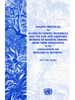 NAGOYA PROTOCOL ACCESS TO GENETIC RESOURCES AND …