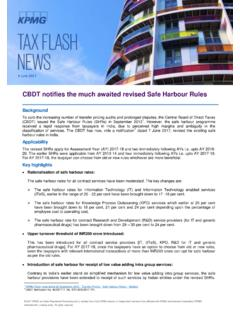 CBDT notifies the much awaited revised Safe …