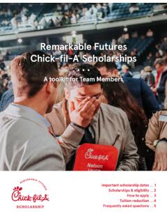 Remarkable Futures Chick-fil-A Scholarships