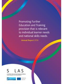 Promoting Further Education and Training …