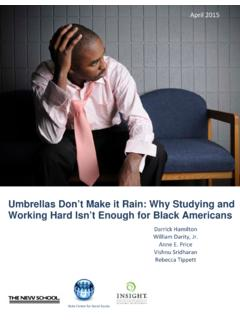 Umbrellas Don't Make it Rain: Why Studying and Working ...