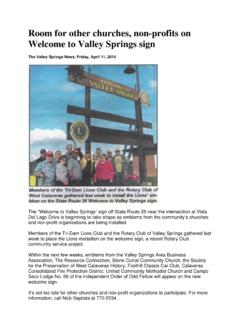 Room for other churches, non-profits on Welcome to Valley ...